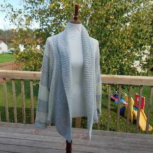 Torrid Grey & White Knit Cardigan